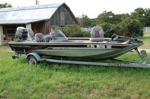 1998 bass tracker aluminum 175 pro team fishing boat with for Bass tracker fishing boats